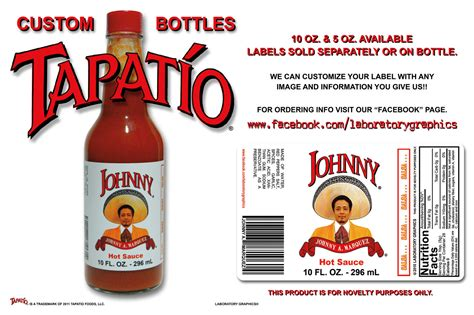 Custom Tapatio Bottles By Johnny Mar At Coroflot Com Sauce Bottle Label Template
