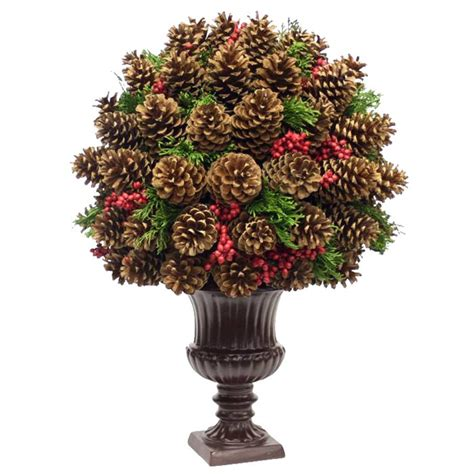 topiary of pine cones pinecone acorn creations pinterest
