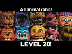 10 animatronics at level 20 fnaf2