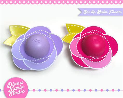 eos template for baby shower favors flower template eos lip balm favors diy printable template