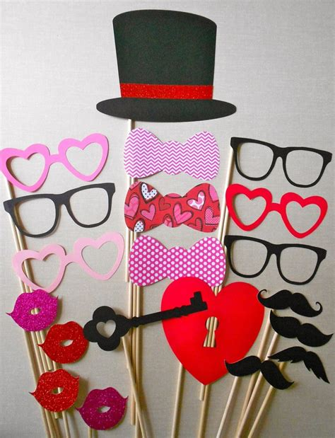 valentines photo booth valentines day photo booth props photography