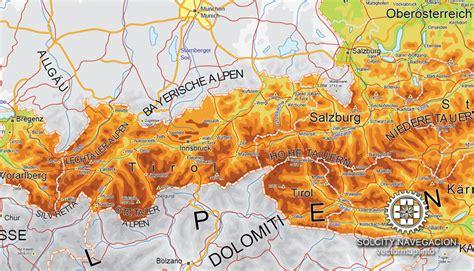 free vector map 2 austria vector relief road map ver 2 editable adobe