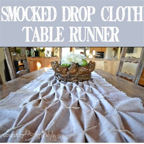country style table runners smocked table runner beautiful colors and vintage