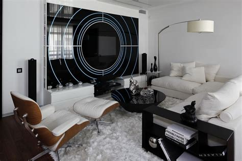 Black And White Contemporary Interior Design Ideas For Black And White Living Room Decorating Ideas