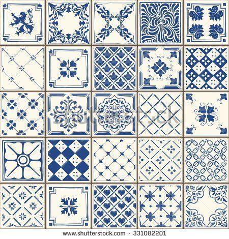 pattern tiles web indigo blue flower azulejos pattern lisbon set paint tile