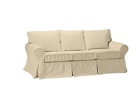 Pb Basic Sofa Slipcover new pottery barn pb basic sofa slipcover cover brushed canvas honey ebay