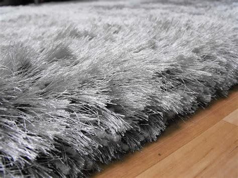 silver rugs uk plush silver shaggy rug plush silver shaggy rug 163 117 00 rugs centre