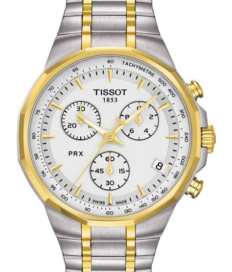 tissot t0774172203100 chronograph silver gold stainless