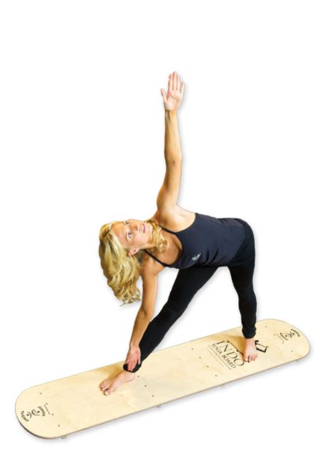 Yogi Board board by indo board balance trainer sup on land and in the studio sup