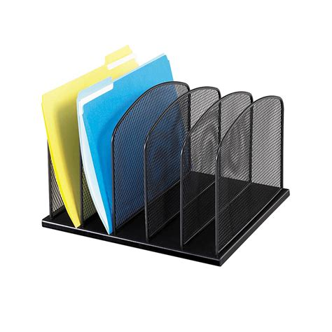 Vertical Desk Organizer by Safco Products 3256bl Onyx Mesh Desktop