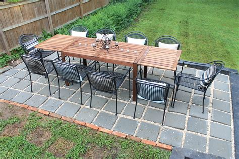 diy large paver patio diy backyard patio house elizabeth burns