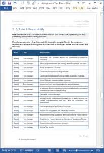 Software Test Plan Template by Acceptance Test Plan Template Ms Word Instant