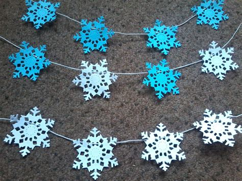 Paper Snowflakes For - how to make paper snowflake garland ebay