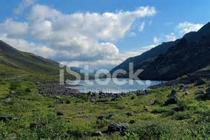 dlinnoe lake in khibiny mountains russia stock photos freeimages com