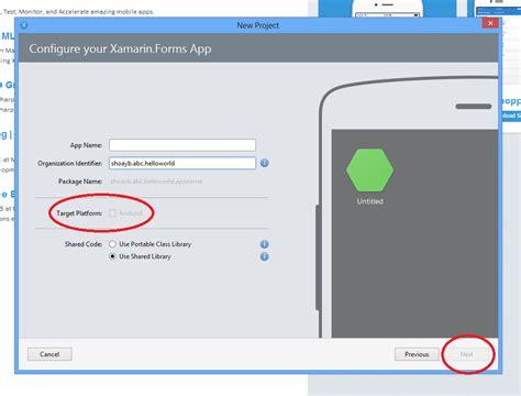 xamarin android project properties stackoverflowxchanger target platform is disabled in xamarin studio