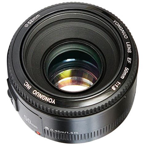 Yongnuo Lens 50mm F1 8 For Canon yongnuo yn 50mm f 1 8 lens for canon ef yn50mm 1 8 c b h photo