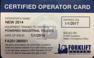 equipment operator certification card template osha forklift certification forklift license in