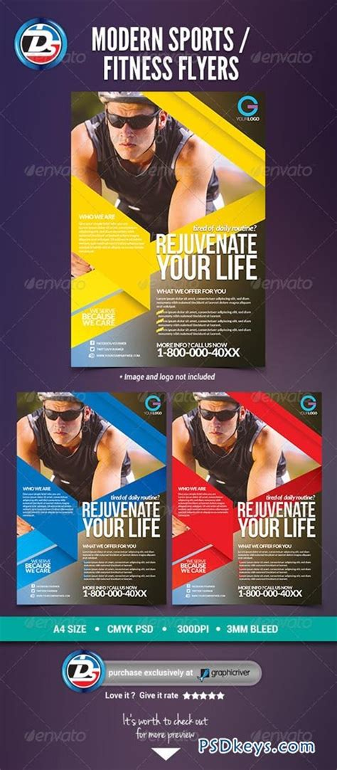 Modern Sports Fitness Flyers 6949429 187 Free Download Photoshop Vector Stock Image Via Torrent Sports Graphic Design Templates