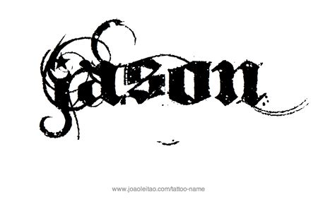 jason tattoo designs jason name designs