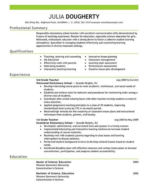 teachers resumes sles top 25 ideas about business writing on resume