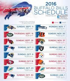2016 bills schedule one buffalo bills and sabres