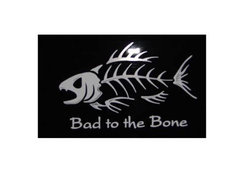 Auto Graphs Decals by Bad To The Bone Fish Premium Vinyl Car Decal Auto Graphs