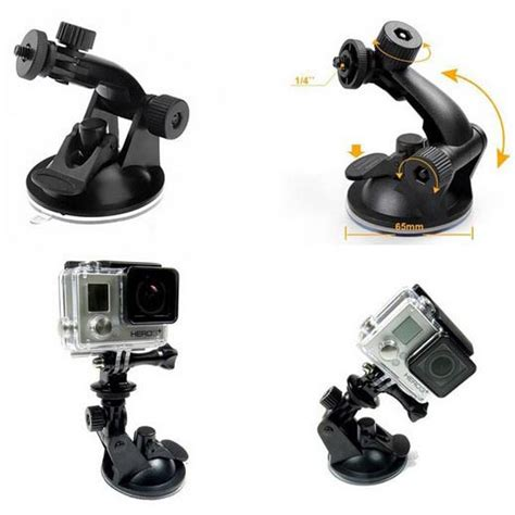 Gopro Xiaomi Bandung suction cup car holder mobil kamera aksi for gopro xiaomi yi xiaomi yi 2 4k sjcam black
