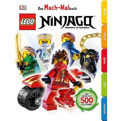 Ninjago Aufkleber Mit Namen by Das Mach Malbuch Lego Ninjago Lego Ninjago Mytoys