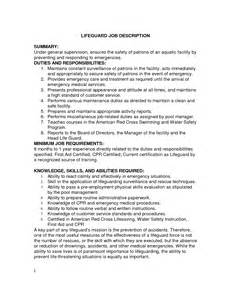 Resume For Lifeguard by Doc 4555 Resume Descriptions For Cashier 48 Related Docs Www Clever
