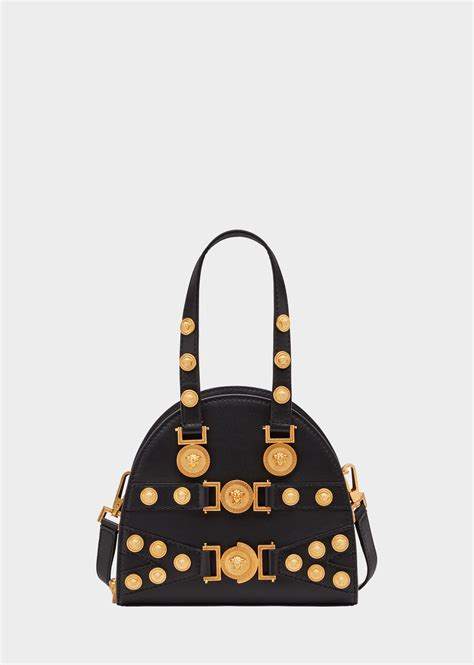 Versace Medallion Bowler Bag by Versace Small Tribute Medallion Handbag For Us