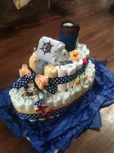 my first diaper quot boat quot cake a fun break from traditional diaper cakes craft ideas pinterest
