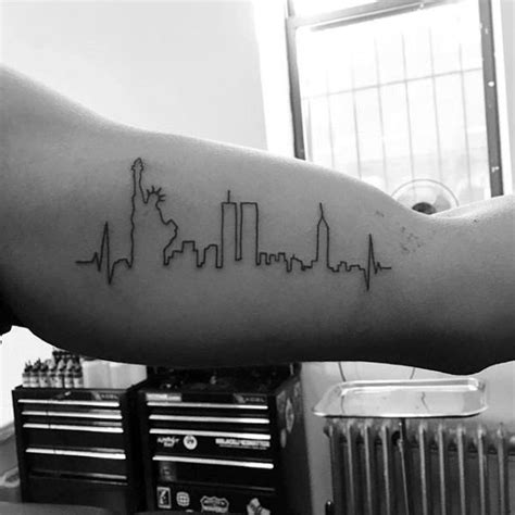 new york skyline tattoo 90 minimalist designs for simplistic ink ideas