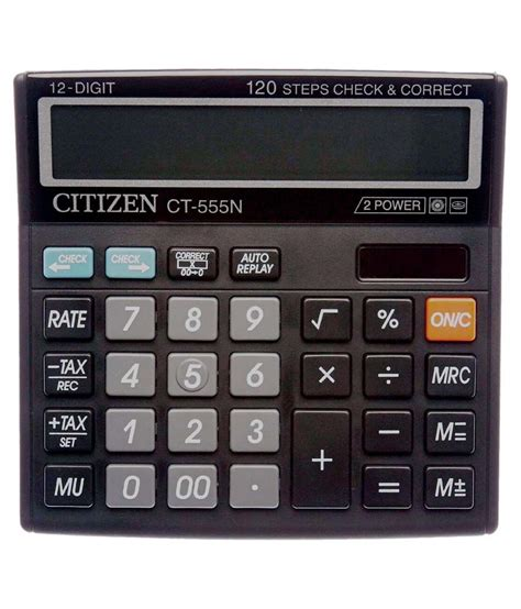 Citizen Calculator Ct 555 N Citizen Ct 555n Basic Calculator Buy At Best Price