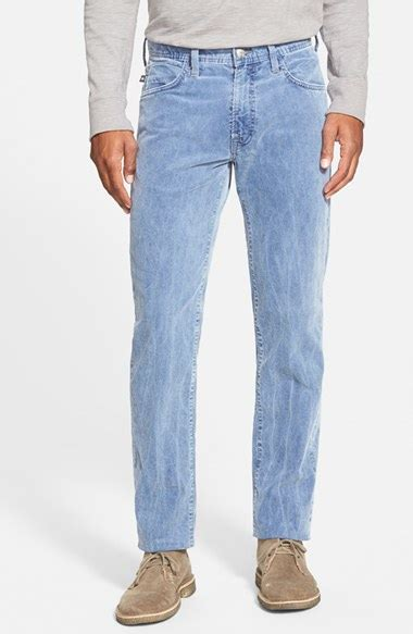 light blue corduroy pants lyst agave bicolor straight leg corduroy pants in blue