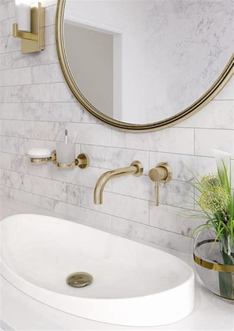 gold taps for bathrooms origins by vado available in brushed gold from the