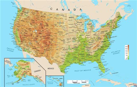 map of usa with rivers and mountains physical geo map of usa with rivers and mountains