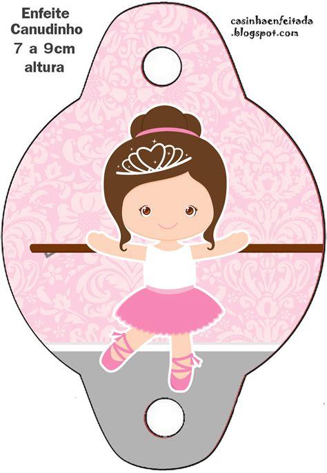 bailarinas para imprimir casinha de crian 231 a kit festa bailarina marrom e rosa para