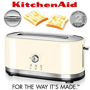 Long Slice Toasters Kitchenaid 4 Slot Toaster Almond Cream Cookfunky
