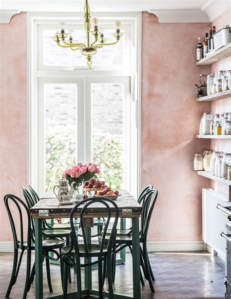 kelley country kitchen room of the week pink plaster walls in a farmhouse