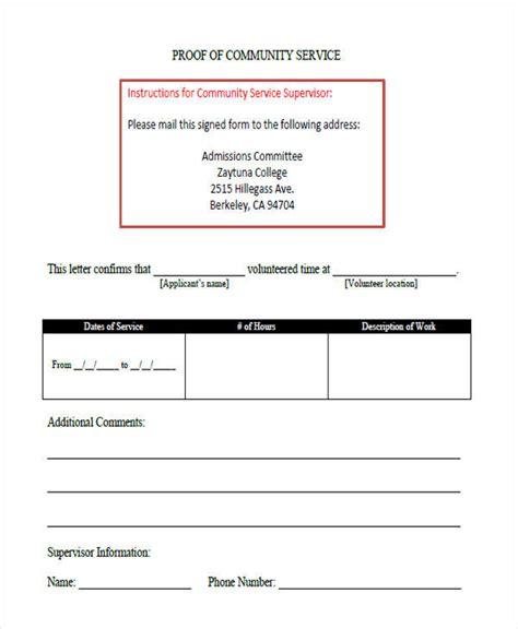 Community Service Letter Doc 38 service letter formats