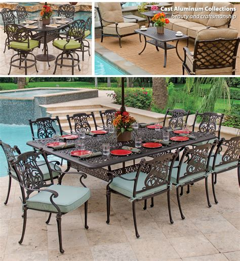 aluminum outdoor furniture sets outdoor cast aluminum patio table icamblog