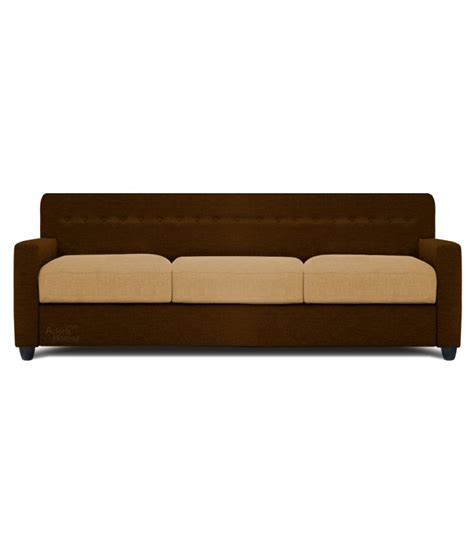 therapy sofa spaces therapy solitaire fabric 3 seater sofa brown