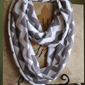 and white chevron infinity scarf gray and white chevron infinity scarf from