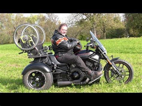 Motorrad Umbau Behinderte by Rollstuhl Trike Harley Davidson Motorrad Umbau Youtube