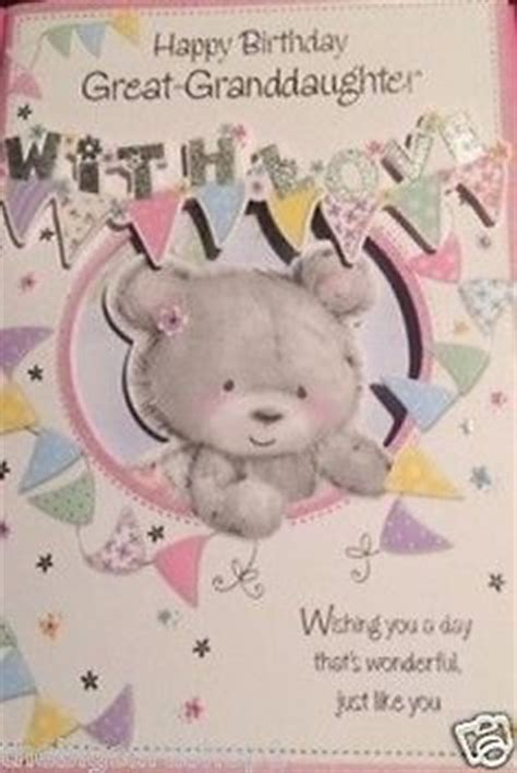 Great Granddaughter 1st Birthday Card Happy Birthday Great Granddaughter Birthday Cards