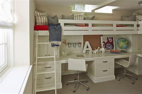 Bunk Beds With Built In Desk Bed Desk Transitional Boy S Room Benjamin