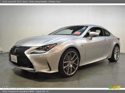 lexus rc f silver 2015 lexus rc 350 f sport in silver lining metallic photo