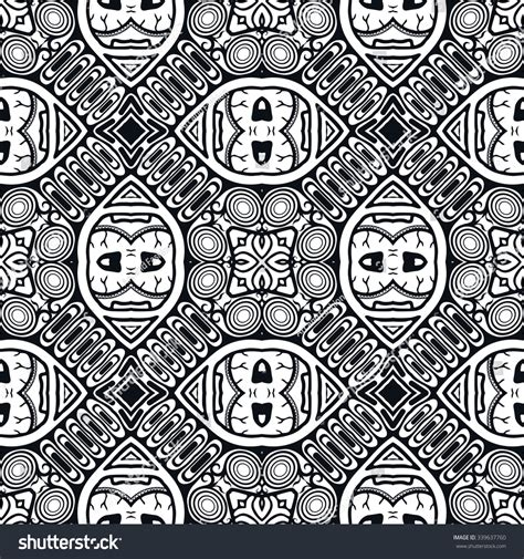 doodle pattern black and white black white seamless sketchy doodle pattern stock vector