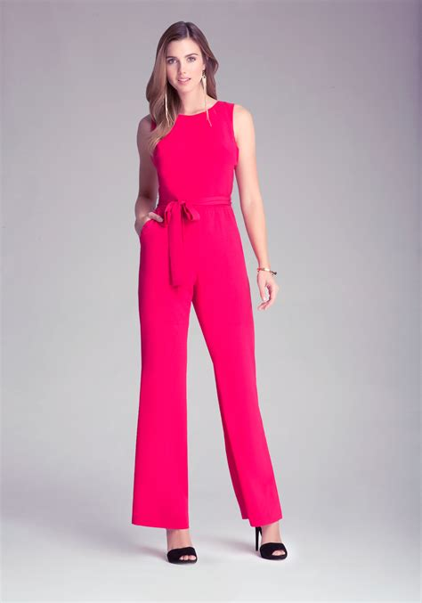 Yumico 3 In 1 Jumpsuit lyst bebe jumpsuit in pink