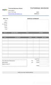 templates for tutoring invoice template